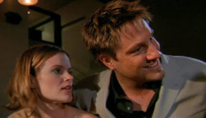 Actress Sarah Smith and Dr. Evan Quinn in Remedy April 2003