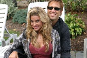 Jon and Monica Leigh on the set of The Gentleman