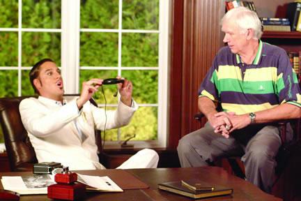 "Jon Doscher as ""Rende Richardson"" with Yankee Great, Gene Michael, in The Gentleman October 2007"