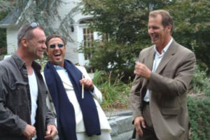Jon with co-stars Ed Cuffe and Ricky Aiello in a candid classic moment on the set of The Gentleman, October 2007.