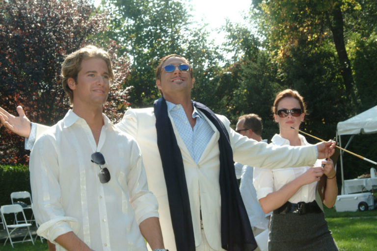 Mike Randy & Jon on the set of The Gentleman