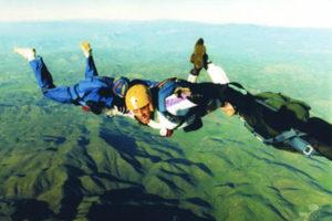Jon skydiving in Lake Otay Desert - Winter 1995