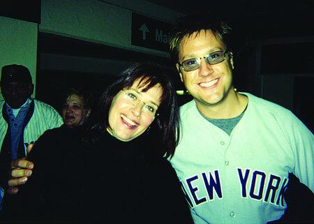 Yankee Stadium World Series - Lorraine Bracco with Jon Doscher