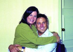 Actors Marcia Gay Harden and Jon Doscher