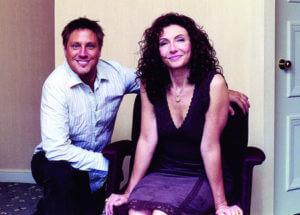 Actors Jon Doscher with Mary Steenburgen