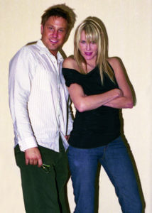 Actors Jon Doscher and Daryl Hannah