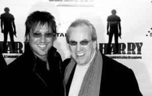 Jon Doscher and Danny Aiello black and white image