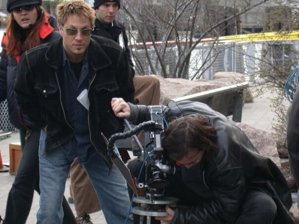 Jon Doscher behind the scenes in NYC on the set of Remedy