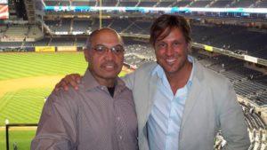 NY Yakees star Reggie Jackson and Jon Doscher