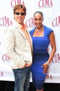 Jon Doscher and Vivica A. Fox at CIMA Awards