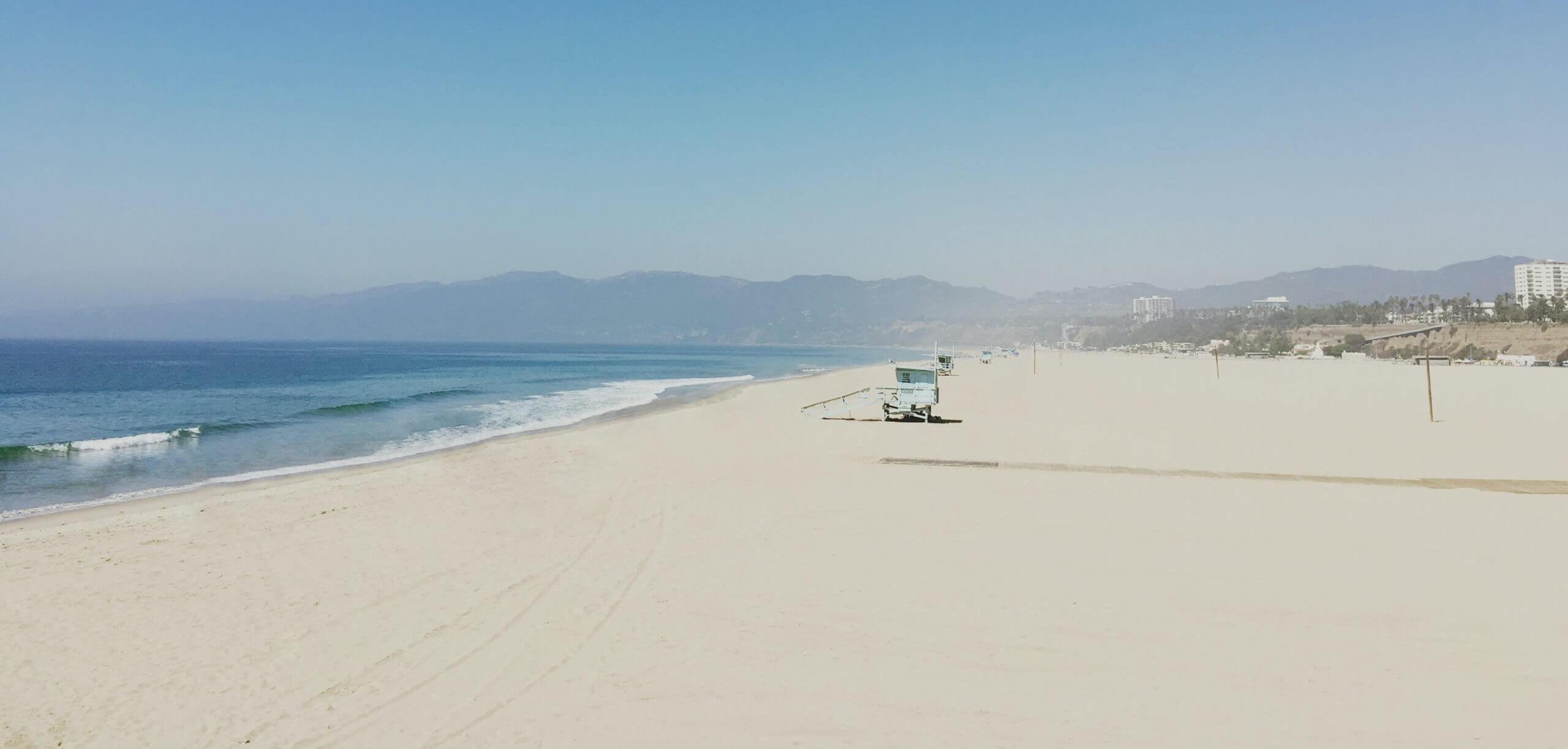 Santa Monica Beach solitude daytime